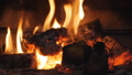 Fire in the fireplace. Firewood, coal, flame. Burning Fireplace - a luminous fire in a stone fireplace to keep warm at night 67038363