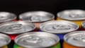 aluminum cans with carbonated water, energy drinks or beer 67431521
