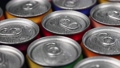 aluminum cans with carbonated water, energy drinks or beer 67529665