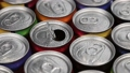 aluminum cans with carbonated water, energy drinks or beer 67529668