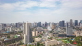 Chengdu skyline aerial view timelapse with moving clouds 67613620