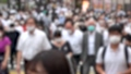日本 東京 夏 マスクを着けた人々 群衆 雑踏 人混み (新型コロナウイルス対策) 67772528