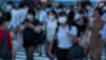 日本 東京 夏 マスクを着けた人々 群衆 雑踏 人混み (新型コロナウイルス対策) 67772561