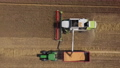 Aerial of harvester in action 67785909