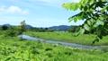 秋田縣夏季河道青空景觀 67808591