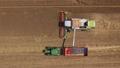 Combine harvester in action 67815172