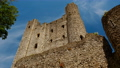 Close-up view of 12th century Rochester Castle, founded after the Norman Conquest, one of the best preserved castles in England 67846242