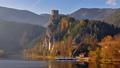 Strecno castle at autumn hyperlapse, Slovakia 67848944