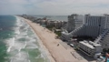 Stunning aerial view of the costline of caribbean sea and Gulf of Mexico in Cancun, Zona Hotelera. 68323552