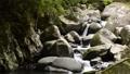 岩の間を流れる渓流 68436879