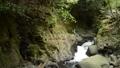 岩の崖の間を流れる渓流 68436881