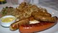 German Wiener sausage delicious restaurant platter 68600801