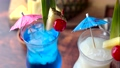 Summer cocktail image, pina colada and blue hawaii 68713306
