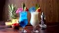 Summer cocktail image, pina colada and blue hawaii 68713307