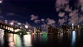 Scenery of Ryogoku: Cloud flow from evening to night (timelapse) 68863783