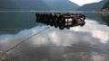 A floating platform on the scenic lake Kawaguchi, one of Mt. Fuji's five lakes in Yamanashi prefecture. 68868797