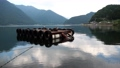 A floating platform on the scenic lake Kawaguchi, one of Mt. Fuji's five lakes in Yamanashi prefecture. 68868799