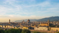 Florence cityscape skyline with sunset in Tuscany 68993528