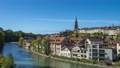 Aerial view of Bern old city by the Aare river in Switzerland. 68993538