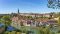 Aerial view of Bern old city by the Aare river in Switzerland. 68993539