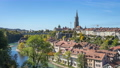 Aerial view of Bern old city by the Aare river in Switzerland. 68993540