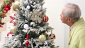 高級裝飾聖誕樹(傾斜) 69279886