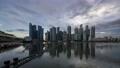 【タイムラプス】シンガポールの摩天楼・マジックアワータイムラプス 69396892