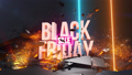 Black Friday sale, discount. Epic 3D animation on the black background. 69564433