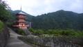 和歌山県 那智山青岸渡寺の三重の塔と那智の滝 69698571