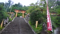 和歌山県 那智山青岸渡寺の赤い鳥居と石段 69698573