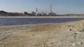 Pollution of nature, copper processing factory. Toxic water lake, environmental disaster 69709496