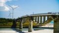 (Shizuoka Prefecture) Shiosai Bridge and wind turbine at the mouth of the Kikukawa River 69747671