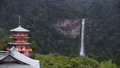 和歌山県 那智山青岸渡寺の三重の塔と那智の滝 69804997