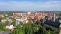 Aerial view of historic center of Olesnica town in Lower Silesian Voivodeship, Poland 69977807