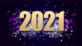 2021 Happy New Year Holiday Background. Footage 69981784