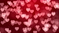 Pink Heart background with heart particle light filling looped for valentine , wedding. 70116673