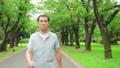 Smile of senior man walking 70203956