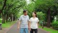Senior couple walking happily 70204092