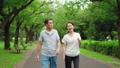 Senior couple walking happily 70204123