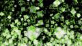 기하학적 파티클 루프 녹색 70262845