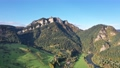 Aerial view of Trzy Korony (Three Crowns) mountain in Pieniny Mountains, Poland 70273940