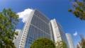 Tokyo Shinagawa Building Time Lapse Green Looking up Fisheye Tilde Up 70809891