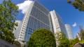 Tokyo Shinagawa Building Time Lapse Green Looking up Fisheye Tilde Down 70809892