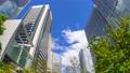 Tokyo Shinagawa Building Time Lapse Green Looking Up Fisheye Zoom In 70809895