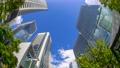 Tokyo Shinagawa Building Time Lapse Green Looking up Fisheye Tilde Up 70809896