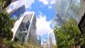 도쿄 시나가와 빌딩 시간 경과 녹색 고개 어안 Fix 70809898