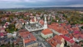 Gryfow Slaski, Poland - aerial view of Rynek square with historic building of Town Hall 70928569