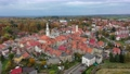 Gryfow Slaski, Poland - aerial cityscape with historic building of Town Hall 70928571