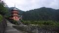 和歌山県 那智山青岸渡寺の三重の塔と那智の滝 71035370