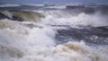 4K - Atlantic storm. Huge waves crash into seashore 71244170